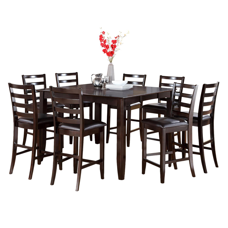 East West Furniture FAIR5-CAP-LC 5-Piece Gathering Table Set