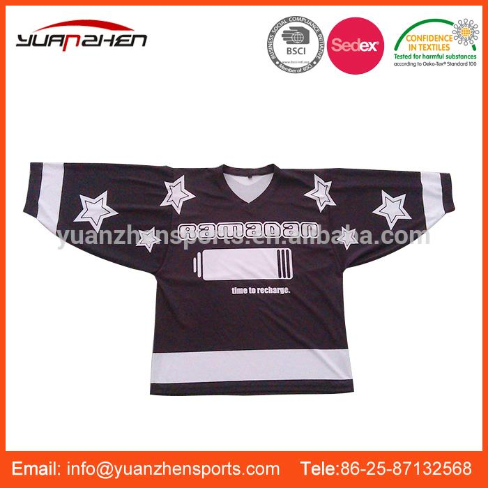 YuanZhen-OEM service colorful printed usa team ice hockey jersey