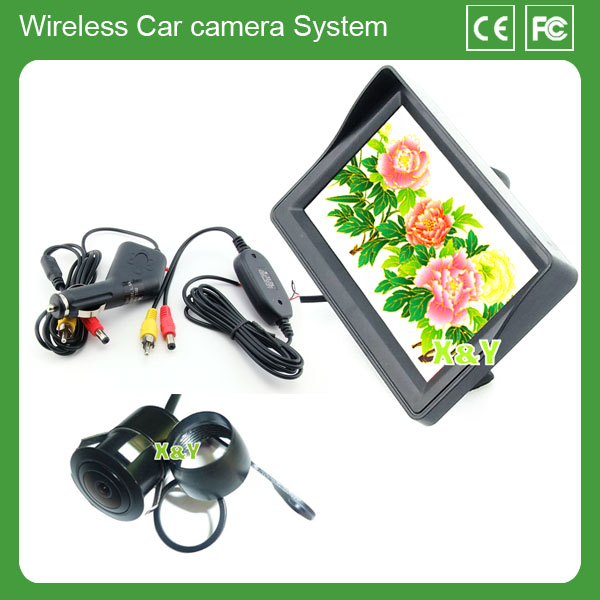 2.4G Wireless Car Rear View Camera Kits with 4.3 inch Monitor and wireless night vision hidden camera