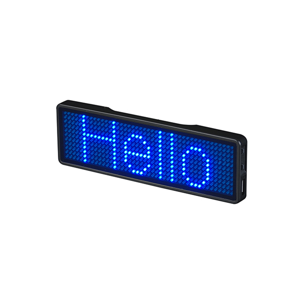 Bluetooth Programmable Blue LED name tag LED name badge Scrolling LED Signs
