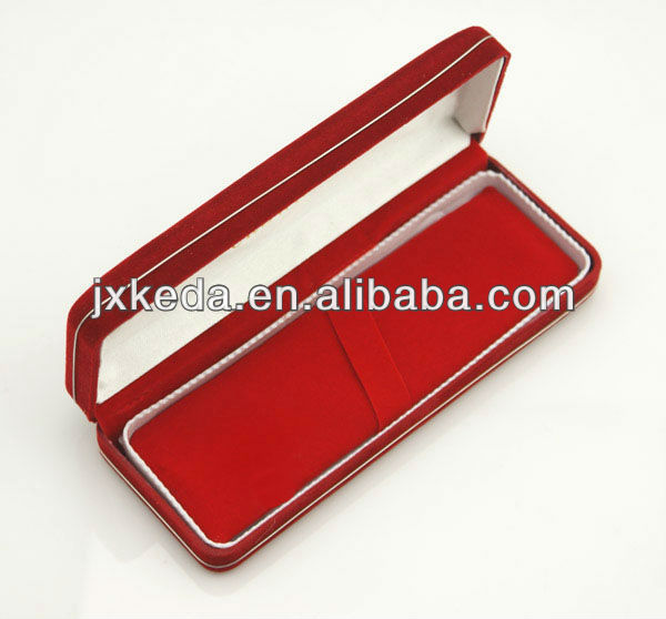 high glossy lacquered velvet magnetic gift pen box