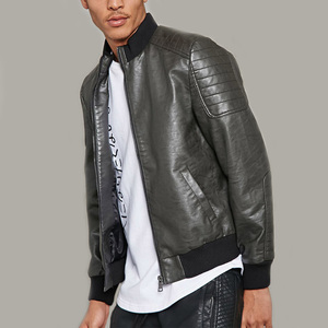 motorsport apparel high neck black pakistan men leather jacket