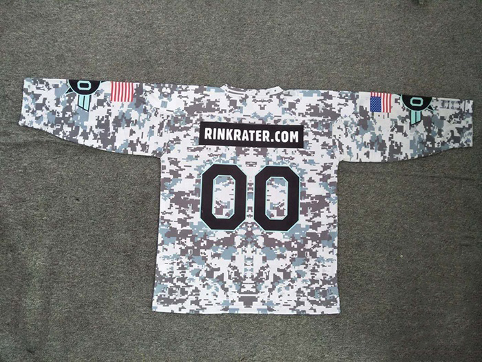 New arrival good quality factory v neck camo ice hockey jersey for USA
