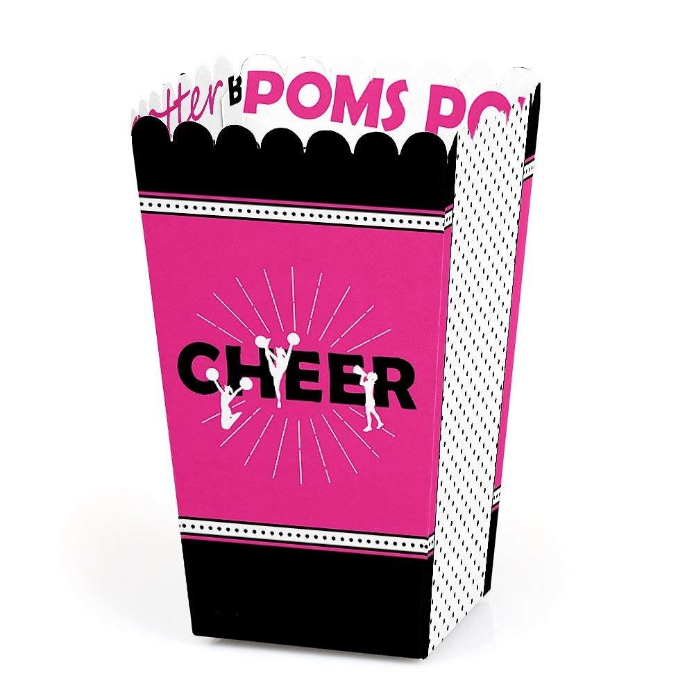 We've Got Spirit - Cheerleading - Birthday Party or Cheerleader Party Favor Popcorn Treat Boxes - Set of 12