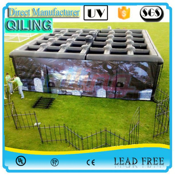 customized sport game inflatable maze for school hire