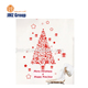 2019 custom plastic glass christmas tree sticker on window and home wall