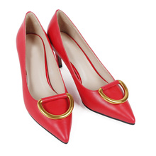 sexy red 2018 fashion lady point toe pumps footwear women heel shoes 44 size