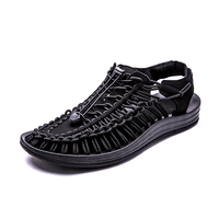 Casual Summer Beach Funny Outdoor Sports Woven Elastic Shoes Men Sandals