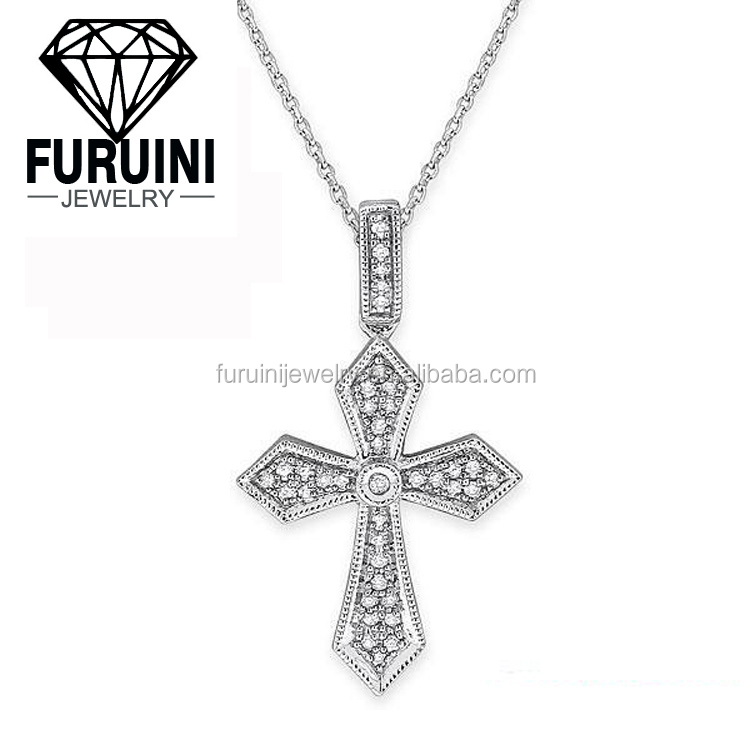 AAA cubic zirconia pendant jewelry cross of the south in copper alloy