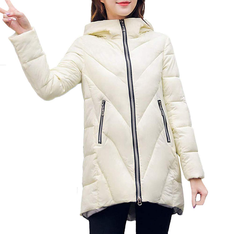Amiley Parkas Women Winter,Womens Thicken Warm Coat Zipper Hooded Pocket Parka Hoodies Outwear