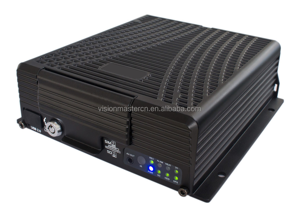 4 ch h.264 network digital hard disk car video nvr taxi  gps 3g wifi camera recorder dvr