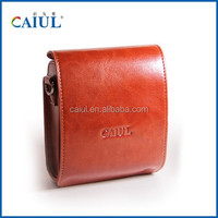 CAIUL instant camera mini90 Light Brown PU Leather bag for instax