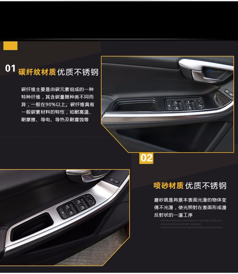 High Quality 2pcs Stainless Steel For Volvo S60 S60l V60: ₪2 Color For Choice! 【ᗑ】 For For Volvo XC60 S60 ∞ V60 V60