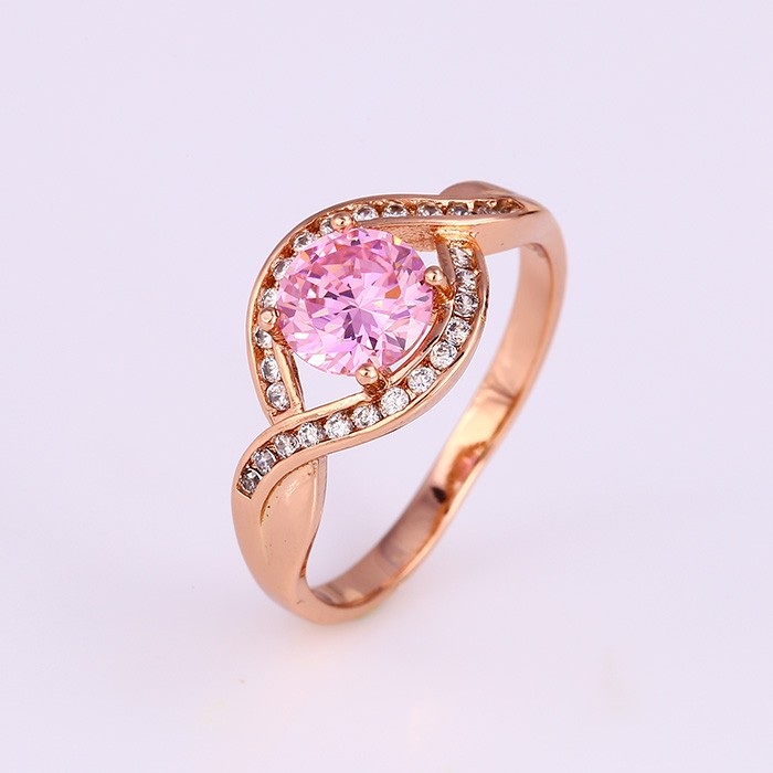 carat gold pink stone and diamond sapphire designer rose ring in engagement gemstone rings