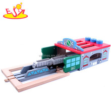 2017 wholesale educational baby wooden train track popular kids wooden train track W04C032