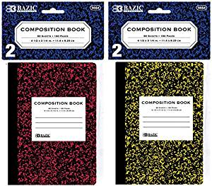 "4.5"" X 3.25"" Mini Marble Composition Notebook {72 Pieces} , Bazic 80 Ct. 4.5"" X 3.25"" Mini Marble Composition Book (2/Pack). Mini Marble Composition Book Features 80, 4 1/2"" X 3 1/3"" Sheets Of White,"