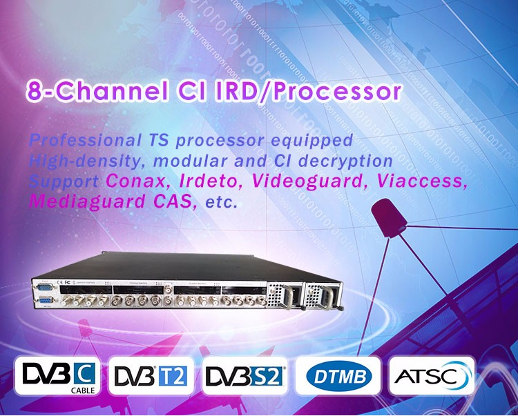 Professional Satellite Receiver Ci Ird Support Conax Cam Card For Encrypted  Channels From Satellite Ts Asi Out - Buy Professional Satellite