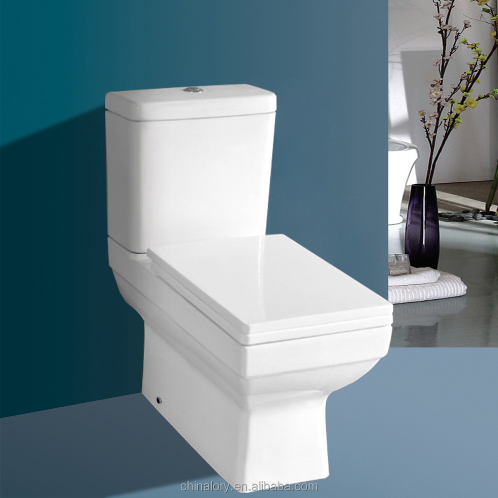 High Quality New Design Two Piece Square Toilet For Uk - Buy Square ...