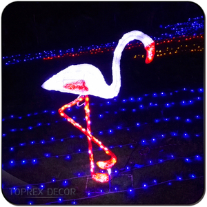 Customizable China products party supplies lighted flamingo led big for event decor