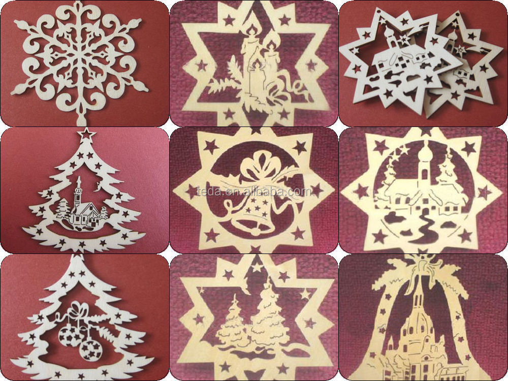 2015teda laser cut wood christmas ornament patterns buy for Wood decoration patterns
