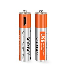 Portable AAA Size 1.5v 400mAh Rechargeable Polymer Lithium Battery