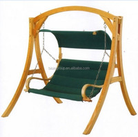 outdoor furniture swing chair Decorative wooden swing (BF10-W20)