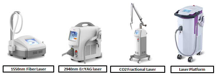 Non-abalative 1540nm erbium glass fractional Laser wrinkle and scar removal equipment
