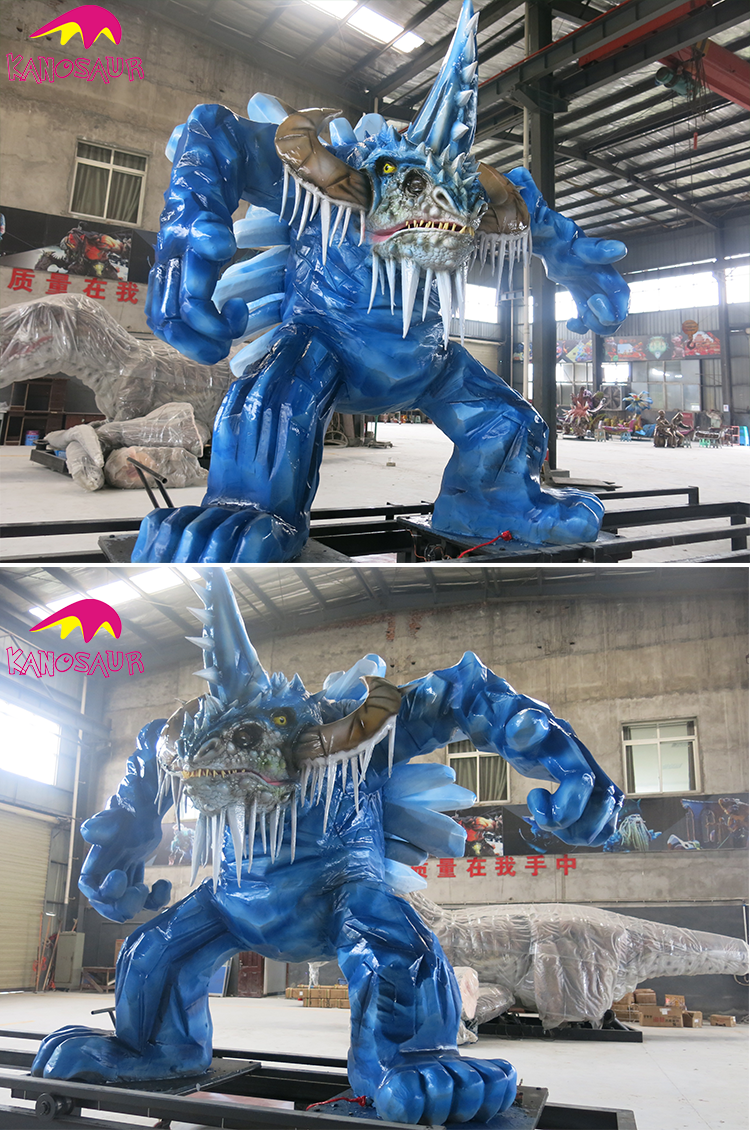 KANO-104 Amusement Park Custom Animatronic Snow Monster