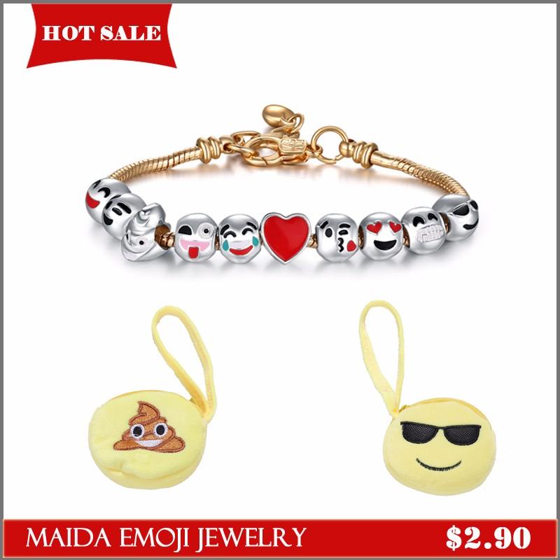 Fashion Lovely Latest Design gold Emoji Necklace For Women