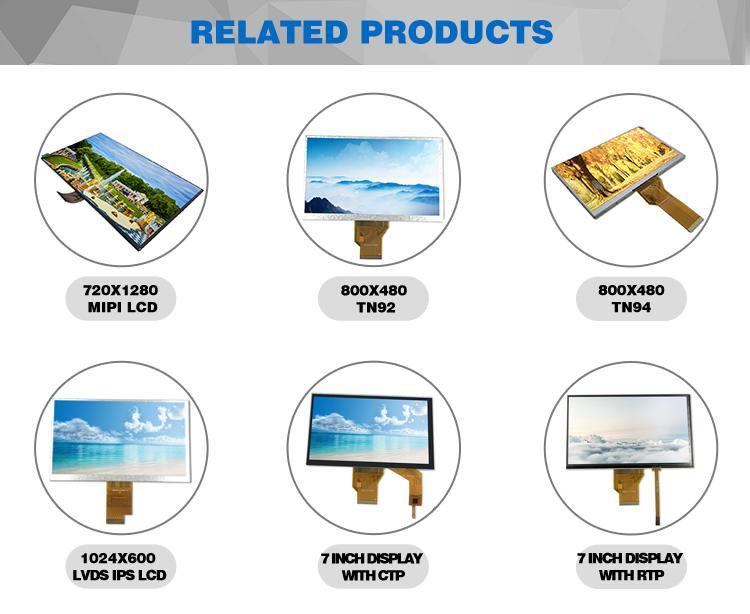 Professionelle kunden service tft lcd monitor mobile 7 1024*600 satellite finder display
