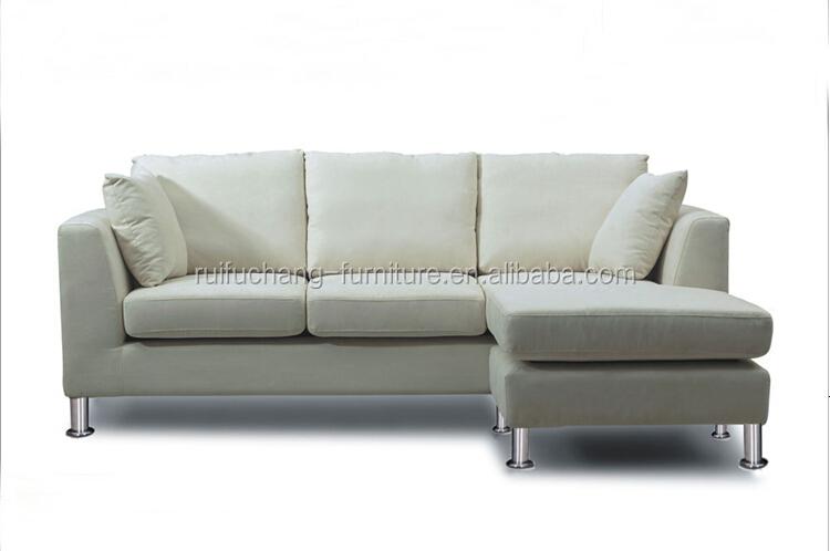 Setengah Bulan Bentuk Sectional Sofa Merah Hitam Putaran Sectional