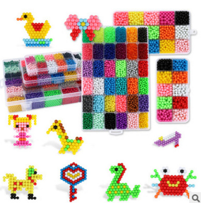 Wholesale China Plastic magic Beads for kids children education toy water auto stick beads factory