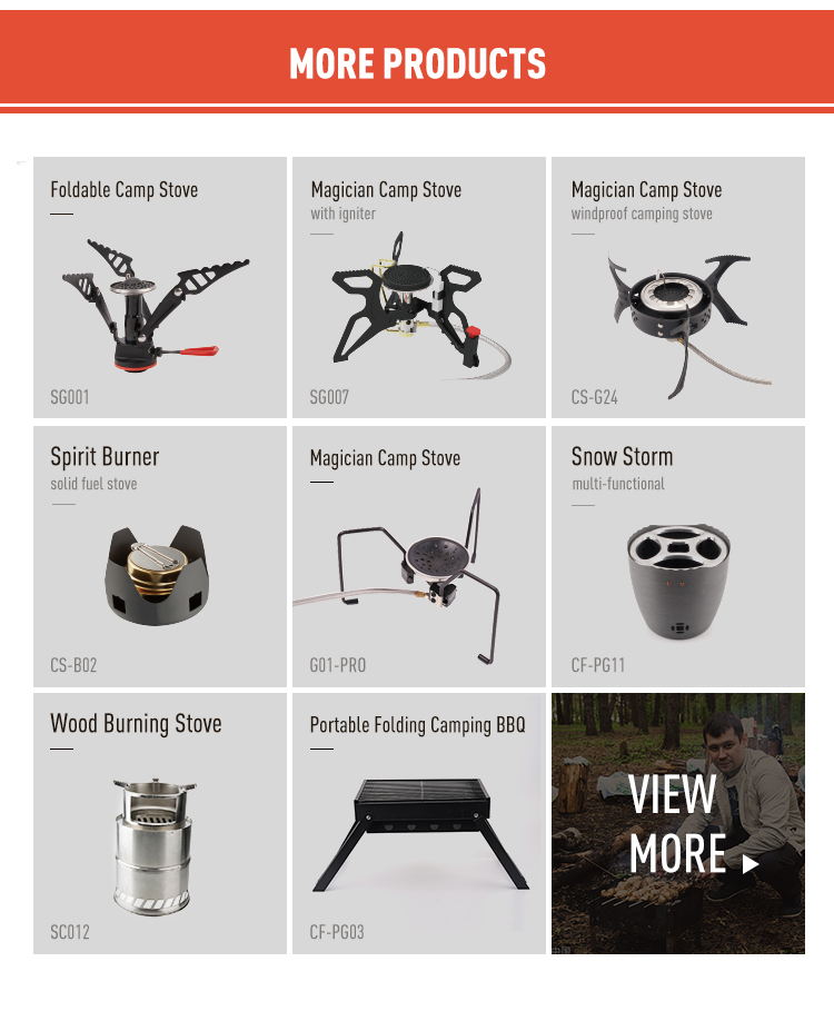 Outdoor backpack gasoline butane propane lpg gas stainless steel folding small camping stove
