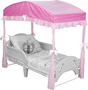 Delta Children's Girls Canopy for Toddler Bed, Pink Color: Pink NewBorn, Kid, Child, Childern, Infant, Baby