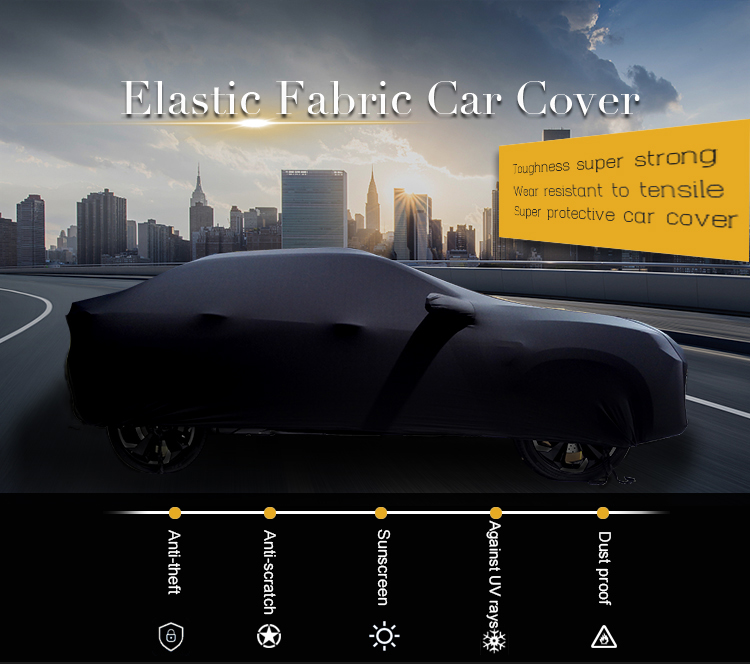 Individuell Bedruckte Werbung Elastische Spandex Stretch Innen Mobilen Auto Abdeckung