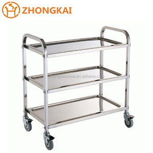 Hand Made OEM Medical Trolley Cart/Hospital Cleaning Cart Hotel Trolley Room Service Car Factory