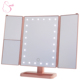Trifold 3 Way Cosmetic Lighted LED Magnification Makeup Vanity Magnifying Mirror With 3X 5X 10X Lights Make up Magnifier