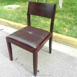 Elegant solid wood leather dining chair,high quality wooden chair