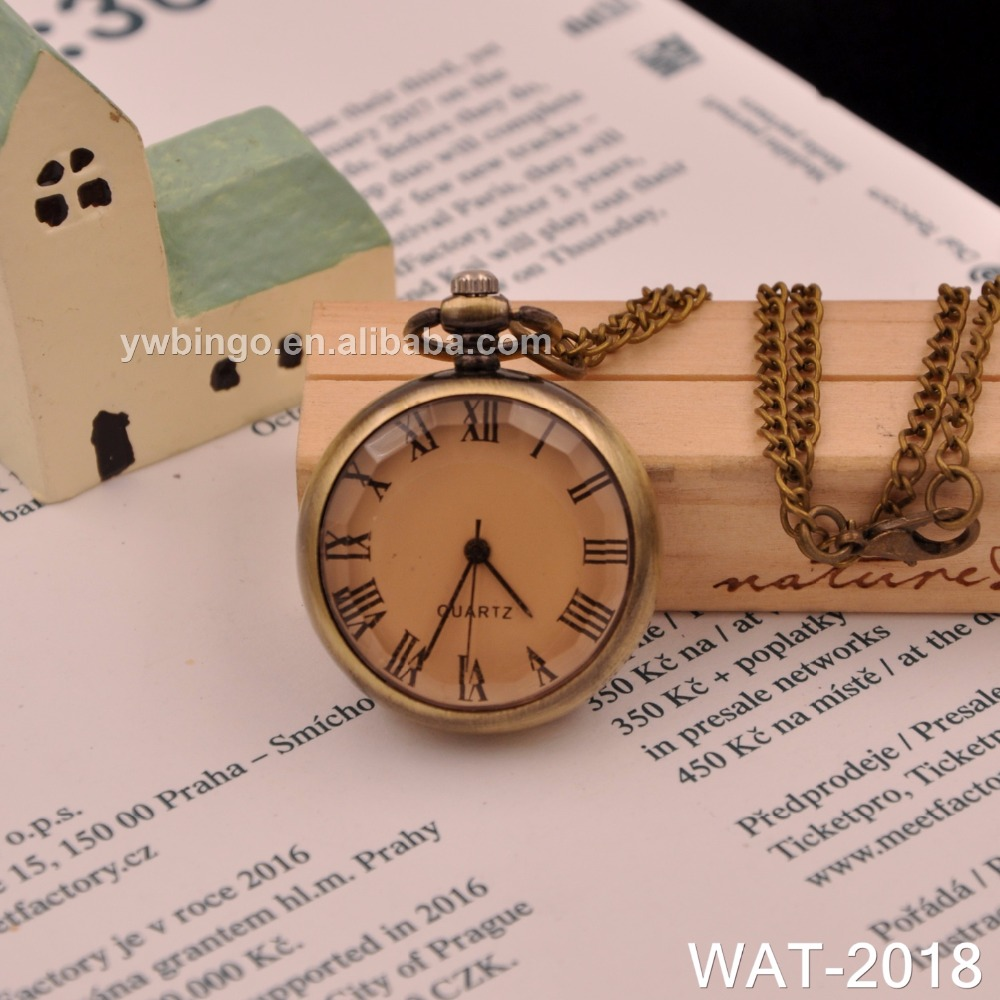 f581972d Классический Винтаж бронзовый Янтарный стекло кварцевые карманные часы  оптом кулон цепочки и ожерелья подарок