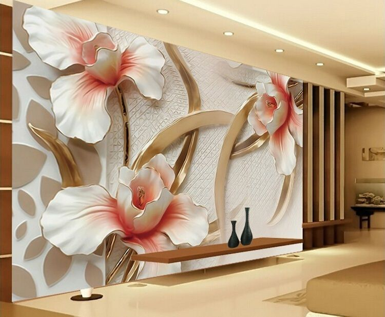 Hot Ing Elegant Flower Wallpaper For Wall Contact Paper Fl Murals