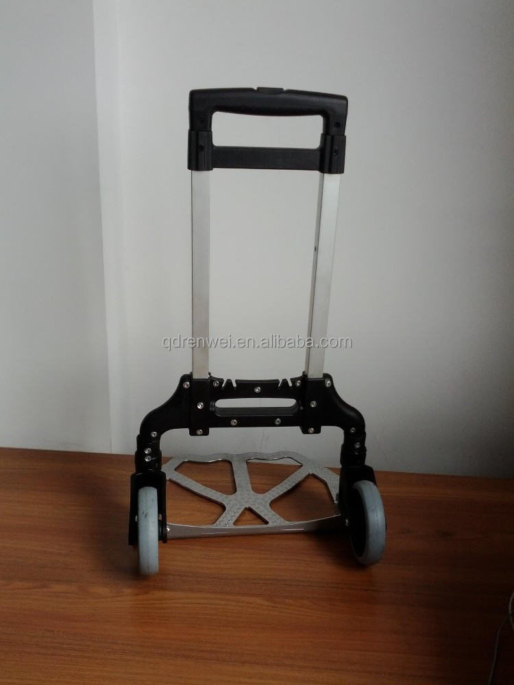 Folding Airport Luggage Cart With Aluminum Body