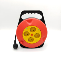 EU Typle Electric Retractable Mini Cable Reel Extension Cord with Surge Protection with Switch power reel