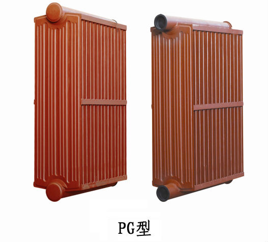 PG/PC/JPC type radiator with flange and mark