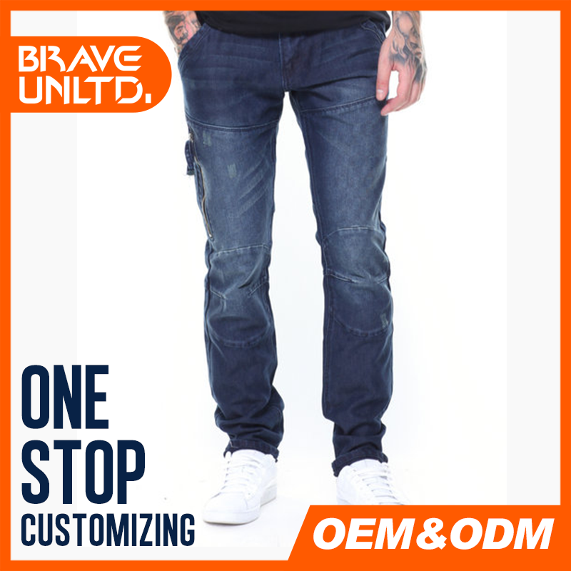 Low price of denim jeans men with high performance wholesale men long jeans