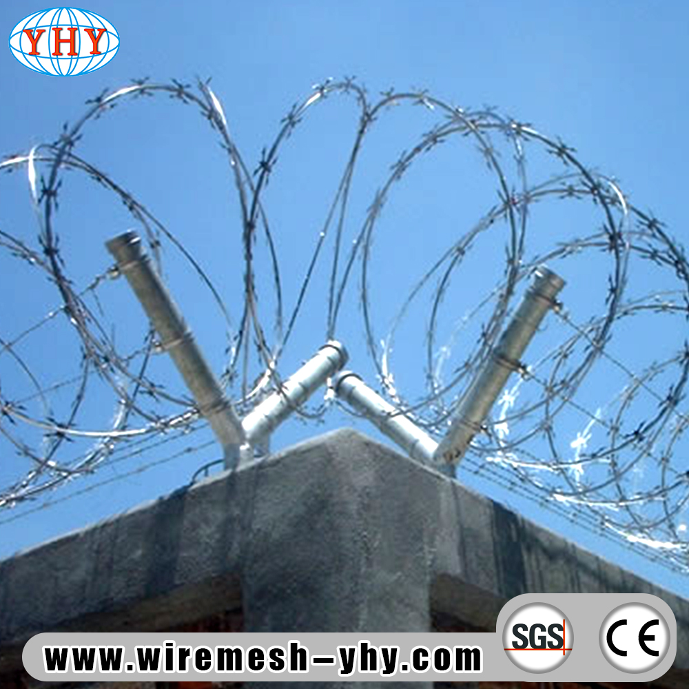 razor barbed wire for detention houses, View concertina razor wire ...