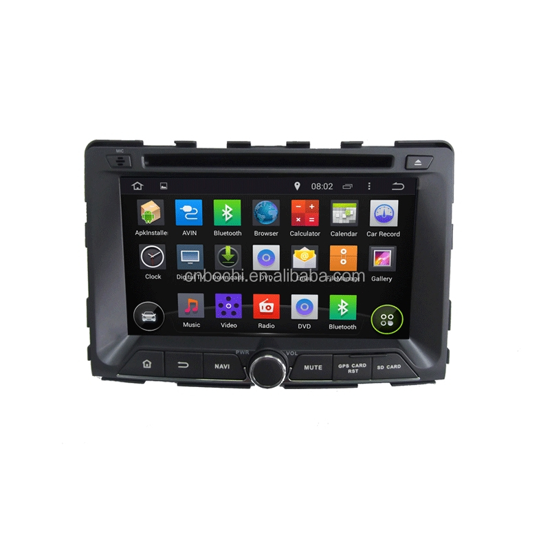 Android 5.1.1 System 4 Core Touch Screen Car GPS Navigation for SsangYong