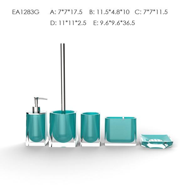 Customized Red Spray Transparent Resin Bathroom Accessories Tissue