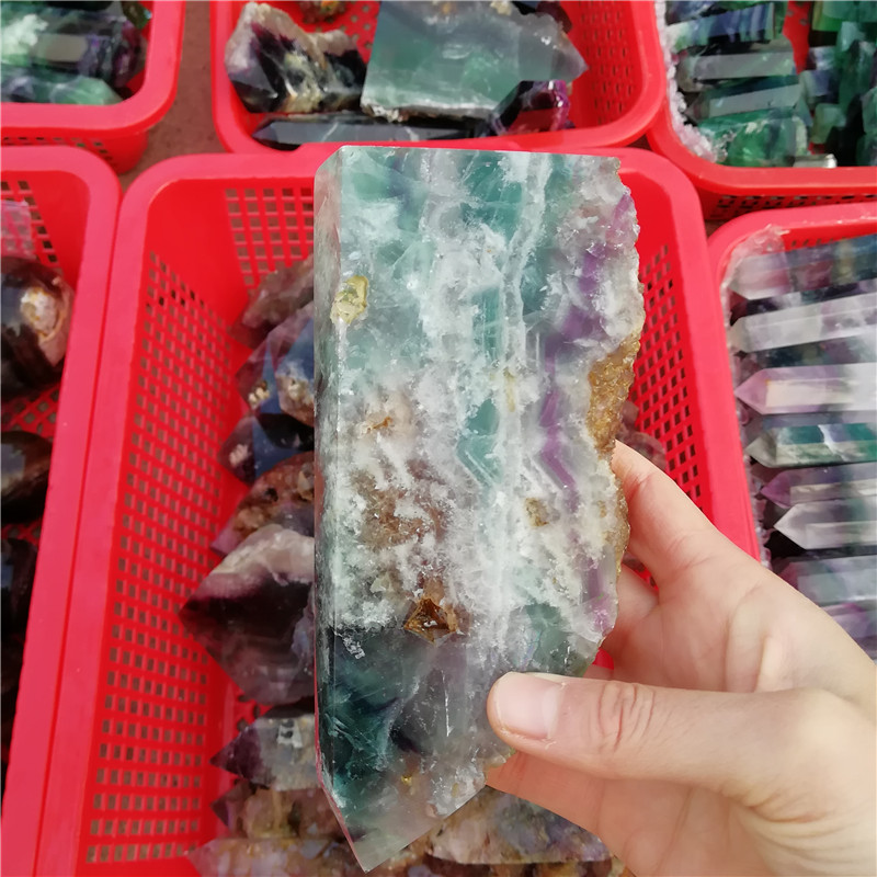 new arrival natural fluorite crystal quartz stones healing rough crystal stones for crafts