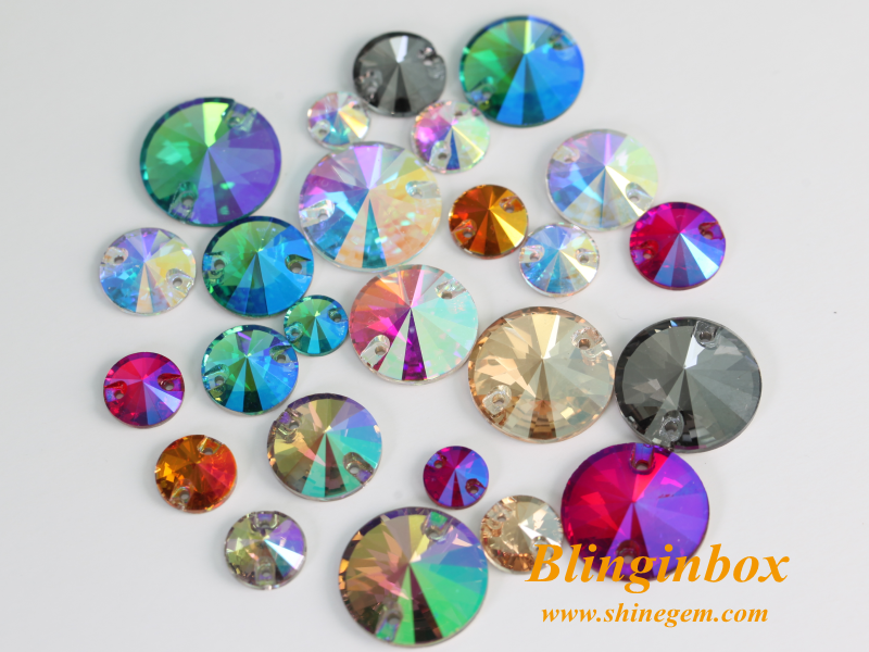 AAAAA quality AB color crystal sew on stone flat back glass rhinestone for dresses