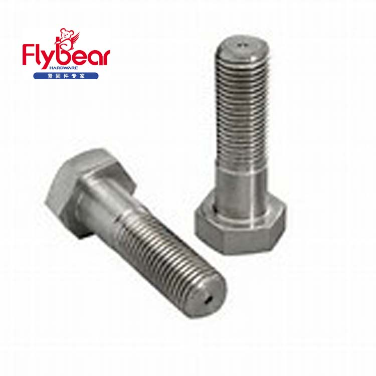 DIN 931 HEX head stainless steel teflon screw good fasteners partial threaded bolt